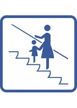 """Знак """"Держать маленьких детей за руку"""" Metro-02"""