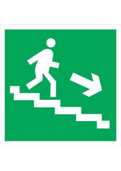 """Знак """"Вниз по лестнице"""" E-13"""