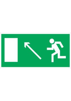 """Знак """"Направление к эвакуационному выходу налево вверх"""" E-06"""