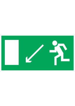 """Знак """"Направление к эвакуационному выходу налево вниз"""" E-08"""