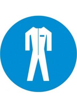"""Знак """"Работать в защитном костюме"""" М-07"""