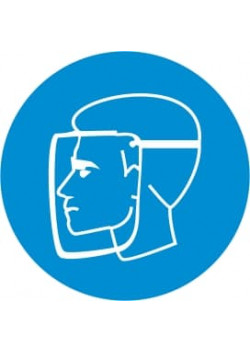 """Знак """"Работать в защитной маске"""" М-08"""
