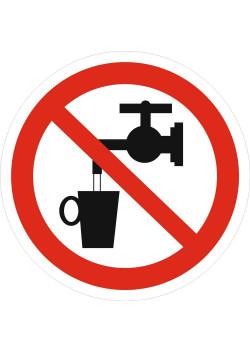 """Знак """"Запрещается использовать в качестве питьевой воды"""" P-05"""