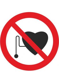 """Знак """"Запрещается работа (присутствие) людей со стимуляторами сердечной деятельности"""" P-11"""
