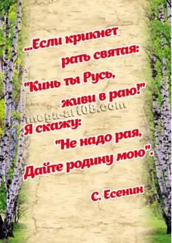 Плакат на 12 июня День России ПЛ-140