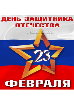 Наклейка на 23 февраля НК-1