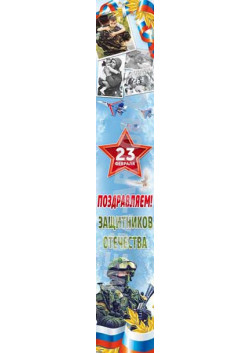 Баннер на 23 февраля БВ-33