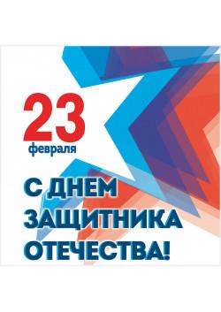 Наклейка в концепции к 23 февраля 2017 года на День защитника Отечества НК-2017-3