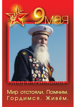 Плакат с 9 мая ПЛ-35