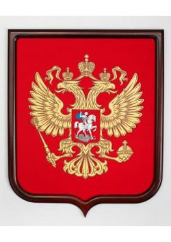 Герб России пластиковый с деревянным щитом