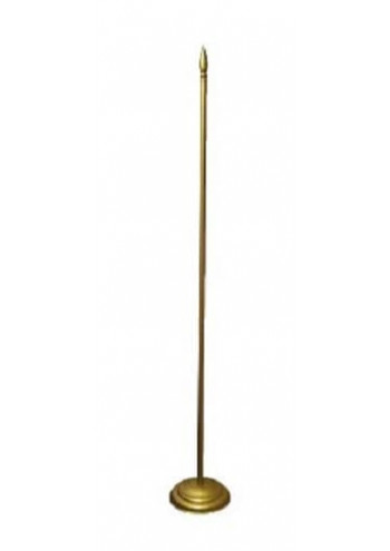 Напольный флагшток на 1, 2 или 3 флага, металл под золото