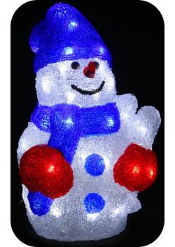 """Объемная световая фигура """"Снеговик в шапочке"""" 30 см"""
