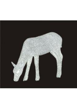 """Объемная световая фигура """"Белый олень"""" 70 см"""