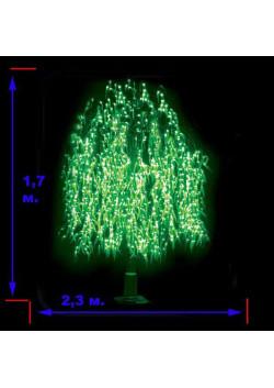 Ива плакучая зеленая светодиодная