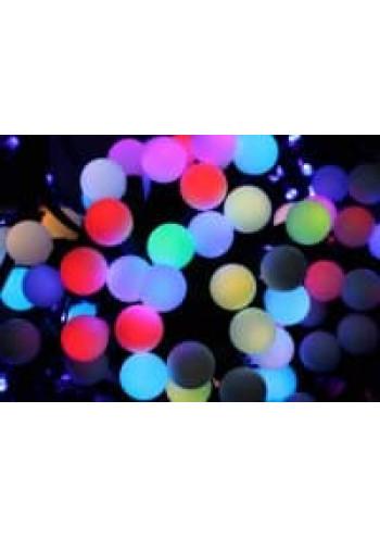 """Светодиодный занавес """"Мультишарики d-17"""" разноцветный 1х3 м"""