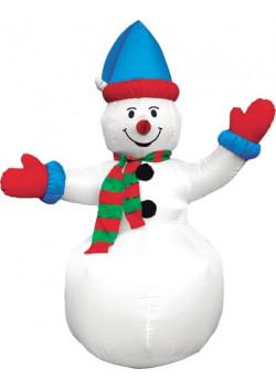 """Надувная новогодняя фигура """"Снеговик в колпачке"""" 2,4 м."""