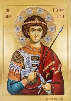 Святая икона Георгий Победоносец ПТ-312