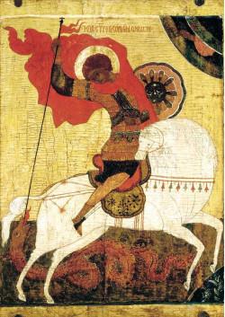 Святая икона Георгий Победоносец ПТ-313