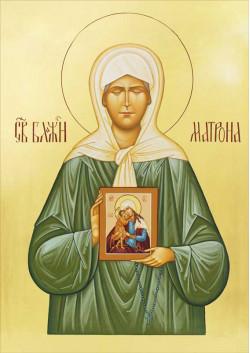 Святая икона Матрона Московская ПТ-318