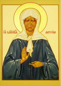 Святая икона Матрона Московская ПТ-319