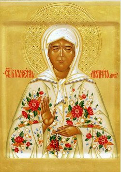 Святая икона Матрона Московская ПТ-320
