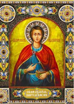 Святая икона Великомученик Пантелеимон ПТ-325