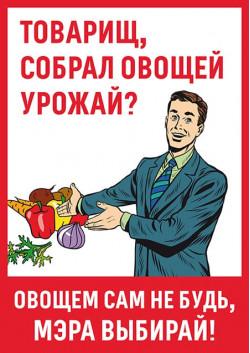 Плакат на выборы мэра Москвы ПЛ-20