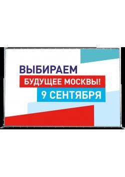 Пресс-волл на выборы мэра Москвы ПВ-1
