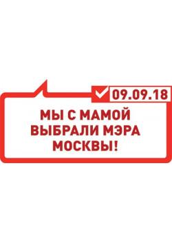 Табличка на выборы мэра Москвы ТБ-4