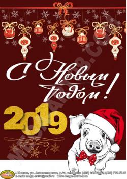 Плакат к Новому году ПЛ-2019-1