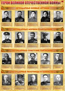 """Постер """"Герои ВОВ"""" ПЛ-208"""