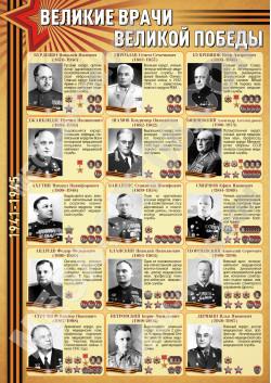 Постер «Великие Врачи Великой Победы»