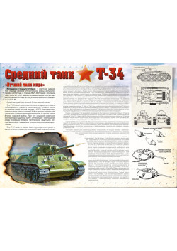 "Стенгазета ""Средний танк Т-34"" СГ-702"