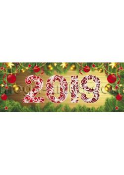 Баннер на Новый год (2.5x1м) БГ-63