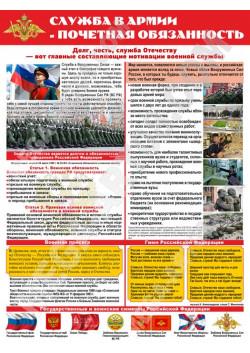 """Постер """"Служба в армии - почетная обязанность"""" ЮА-7"""