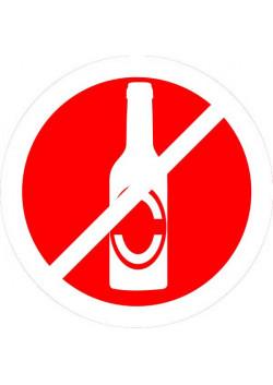 """Знак """"Вход с напитками запрещен"""" 002"""
