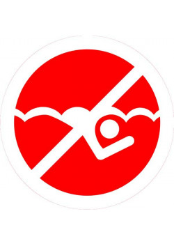 """Знак """"Плавание запрещено"""" 003"""