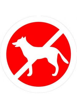 """Знак """"Вход с домашними животными запрещен"""" 007"""