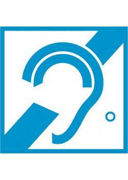 Знак «Доступность для инвалидов по слуху» I-06