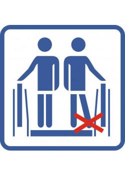 """Знак """"Не ставьте ноги вплотную к краю экскалатора"""" Metro-01"""