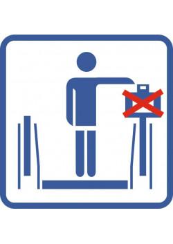 """Знак """"Не ставить чемодан на перила экскалатора"""" Metro-03"""