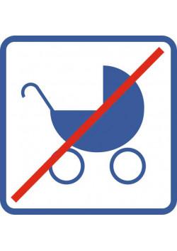 """Знак """"Запрещена коляска"""" Metro-04"""