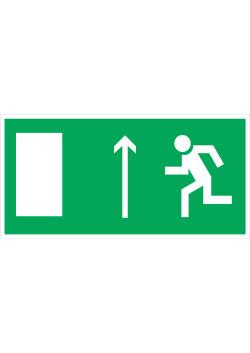 """Знак """"Направление к эвакуационному выходу прямо"""" E-12"""
