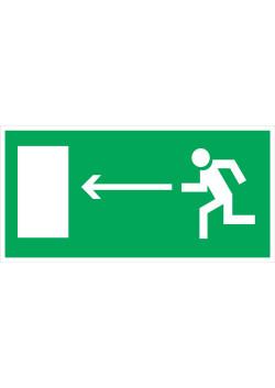"""Знак """"Направление к эвакуационному выходу налево"""" E-04"""
