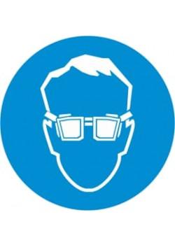 """Знак """"Работать в защитных очках"""" М-01"""