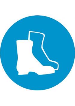 """Знак """"Работать в защитной обуви"""" М-05"""