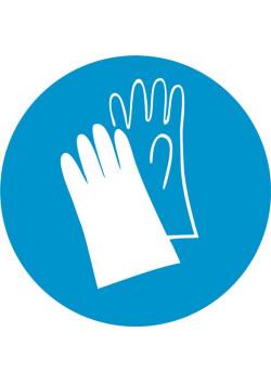 """Знак """"Работать в защитных перчатках"""" М-06"""
