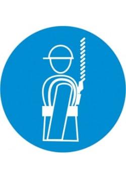 """Знак """"Работать со страховочным поясом"""" М-09"""