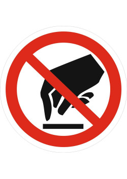 """Знак """"Запрещается прикасаться. Опасно"""" P-08"""