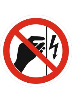 """Знак """"Запрещается прикасаться. Корпус под напряжением"""" P-09"""